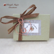 Load image into Gallery viewer, Rough Magic Creations complementary presentation box for handmade earrings
