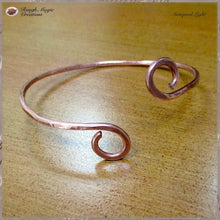 Load image into Gallery viewer, Simple Copper Cuff Bracelet, Minimalist Metal Jewelry for Men and Women