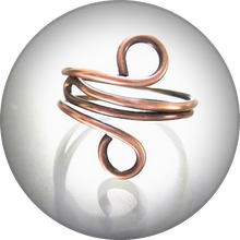 Load image into Gallery viewer, Simple Copper Ring, Minimalist Jewelry for Woman or Man