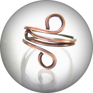Simple Copper Ring, Minimalist Jewelry for Woman or Man