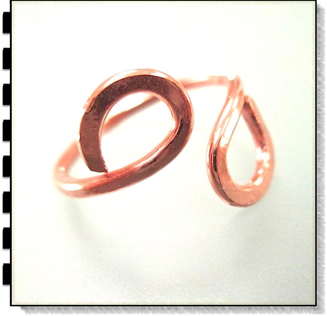 Solid Copper Ring Infinity Jewelry Unisex for Women and Men