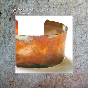 Rustic Copper Cuff Bracelet, Jewelry for Women and Men