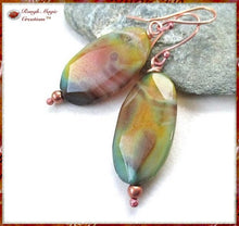 Load image into Gallery viewer, Large Multicolor Agate Gemstone Earrings