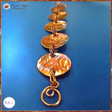 Load image into Gallery viewer, Primitive Metalwork Coin Bracelet, Hand Forged Copper Links