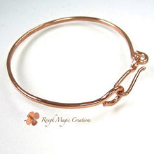 Load image into Gallery viewer, Hammered Copper Bangle Bracelet, Minimalist Jewelry