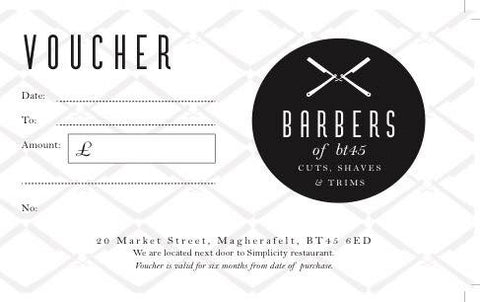 Barbers Of BT45 Voucher 15.00