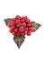 "Flocked Berry Pick - 5.5"" Tall - Box of 24 - Red"