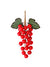 "Grape Cluster - 7"" Tall - Box of 48 - Red"