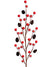 "Berry & Mini Pine Cone Branch Spray - 17"" Tall - Box of 36 - Red"
