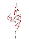 "Snow-Covered Berry Branch Spray - 26"" Tall - Box of 24 - Red"