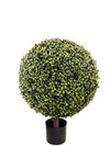 "Boxwood Topiary Ball - 29"" Tall x 20"" Diameter - Green"
