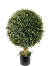"Cedar Topiary Ball - 29"" Tall - Green"