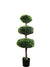 "Boxwood Topiary Triple Oval - 41"" Tall - Green"