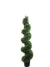 "Boxwood Topiary Spiral - 46"" Tall - Green"