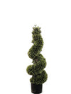 "Cedar Topiary Spiral - 37"" Tall - Set of 2 - Green"
