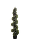 "Cedar Topiary Spiral - 47"" Tall - Green"