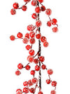 Iced Berry Garland - 5' Long - Box of 2 - Red