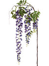 "Wisteria Branch Spray - 69"" Long - Box of 12 - Choice of Color"