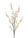 "Peach Blossom Branch Spray - 40"" Tall - Box of 12 - Choice of Color"