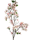 "Dogwood Branch Spray - 50"" Tall - Box of 6 - Choice of Color"