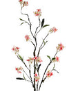 "Wild Flower Branch Spray - 42"" Tall - Box of 12 - Choice of Color"
