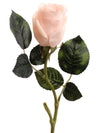 "Real Touch Rose Bud Stem - 18"" Tall - Set of 24 - Choice of Color"