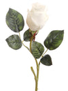 "Real Touch Rose Bud Stem - 18"" Tall - Box of 24 - Choice of Color"