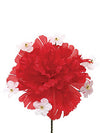 "Carnation Pick with Gypsophila - 5"" Tall x 4.25"" Diameter - Box of 100 - Choice of Color"