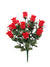 "Rose Bud Bush with Gypsophila - 18"" Tall - Box of 12 - Choice of Color"