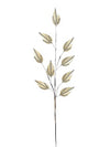"Rhinestone Leaf Spray - 29"" Tall - Box of 8 - White"