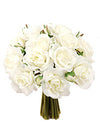 "Rose Bouquet - 8"" Tall - Box of 12 - White"