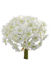 "Hydrangea Bouquet - 9"" Diameter - Set of 12 - White"