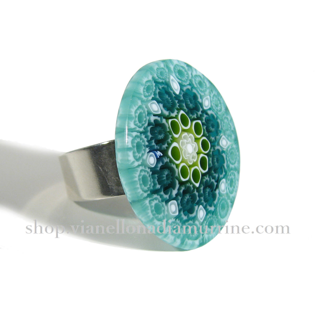 Murano glass Millefiori ring