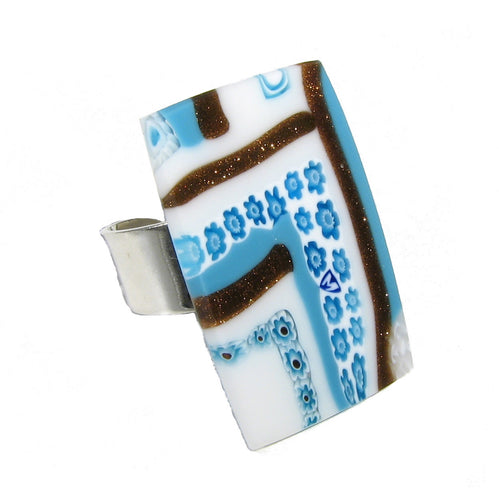 Murano glass rectangular Ring
