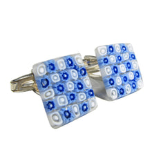 Murano glass Cufflinks Anni 60 set in 925 Silver