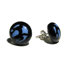 "Murano glass round earrings ""Single Pearl"""