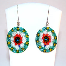 Murano glass earrings Millefiori