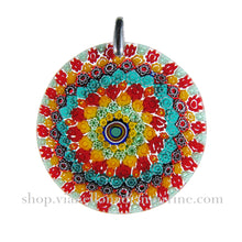 Murrina Millefiori Murano glass round pendant (32) ⌀ 39 mm