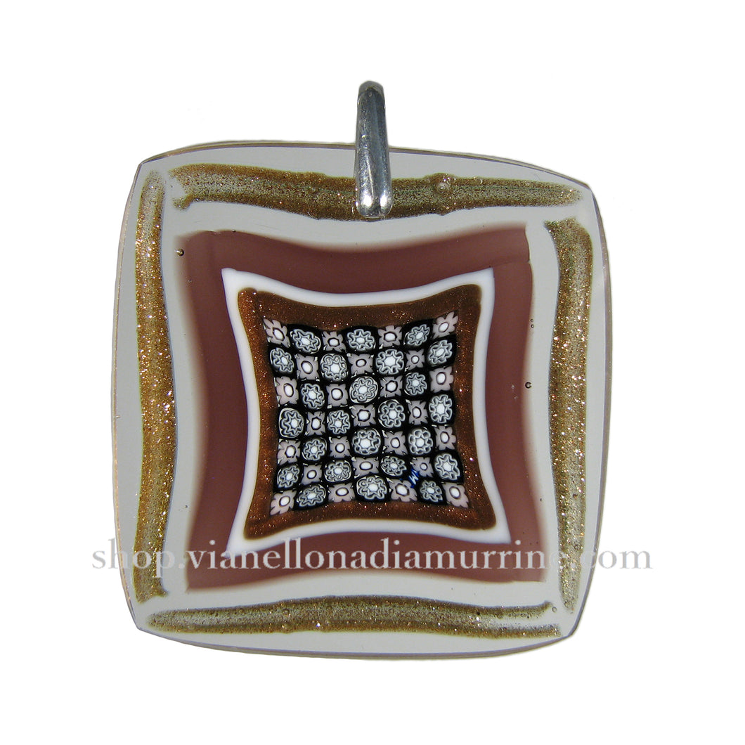 Glass jewelry pendants