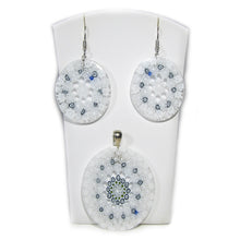 Murano glass pendant and earrings set