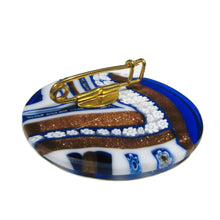 Murano glass brooch