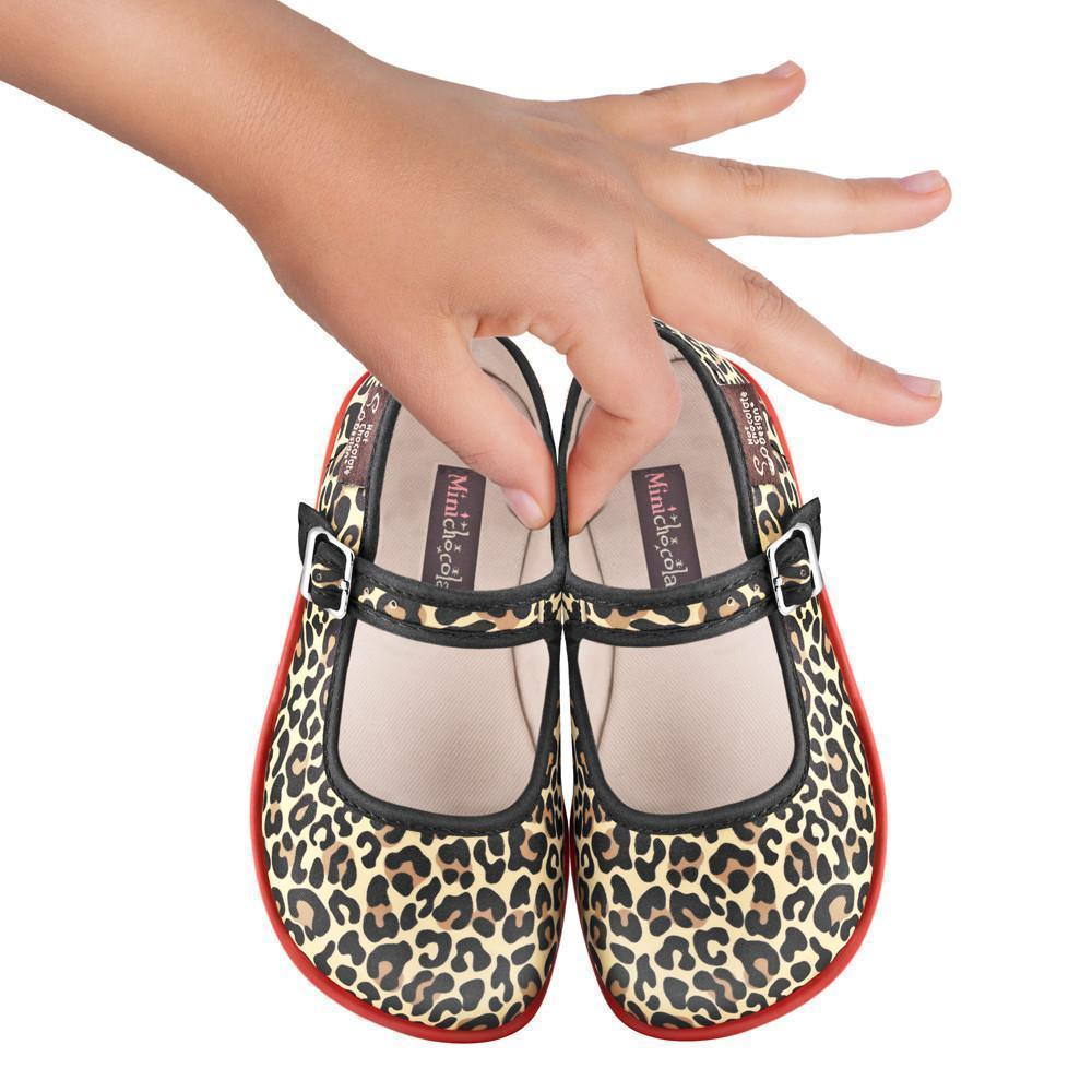 Mini Chocolaticas® Leopard Girls Mary Jane Flat