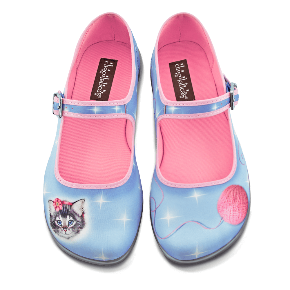 Chocolaticas® Sussy Cat Women's Mary Jane Flat