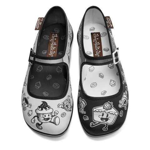 Chocolaticas® Cartoon Women's Mary Jane Flat