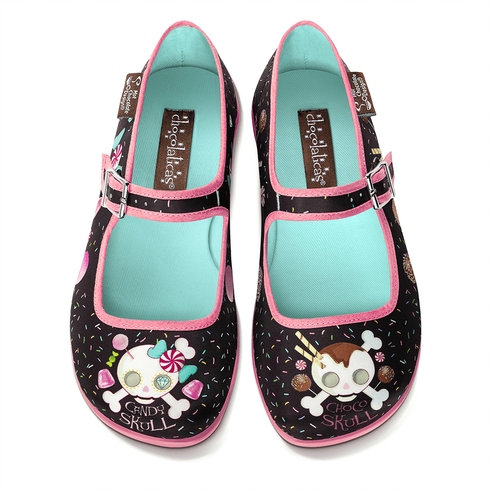 Chocolaticas® Candy Skull Women's Mary Jane Flat