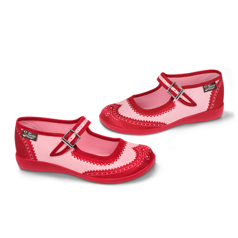 Chocolaticas® Havana Red Women's Mary Jane Flat