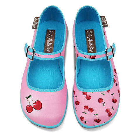 Chocolaticas® Cherry Pink Women's Mary Jane Flat