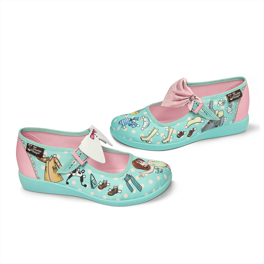 Chocolaticas® Paper Doll Women's Mary Jane Flat