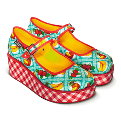 Chocolaticas® Kitsch Picnic Women's Mary Jane Platform
