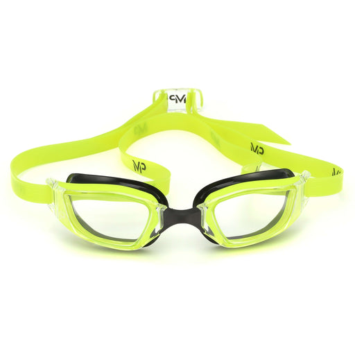 Michael Phelps XCEED Clear Lens Goggles, Yellow,Aqua Sphere,Treshers